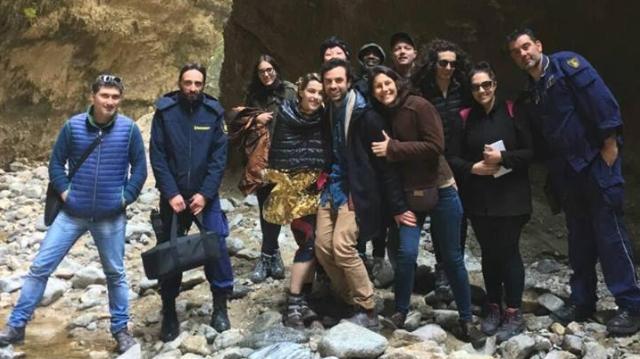 Guido Taroni e il suo staff nel Canyon Valli Cupe