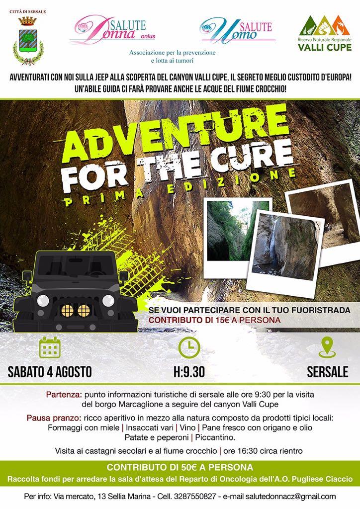 """Locandina dell'evento """"Adventure for the cure"""""""
