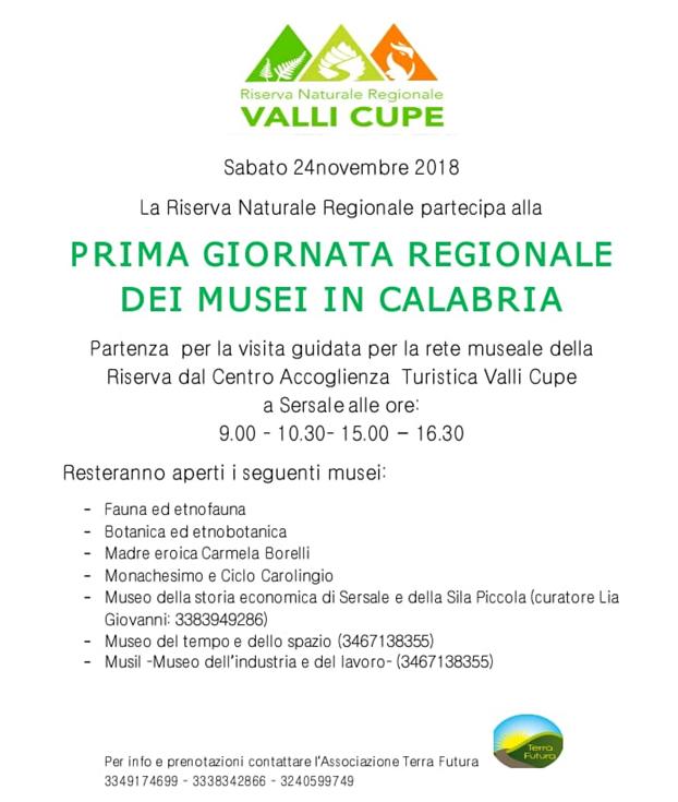 Giornata regionale dei musei in Calabria