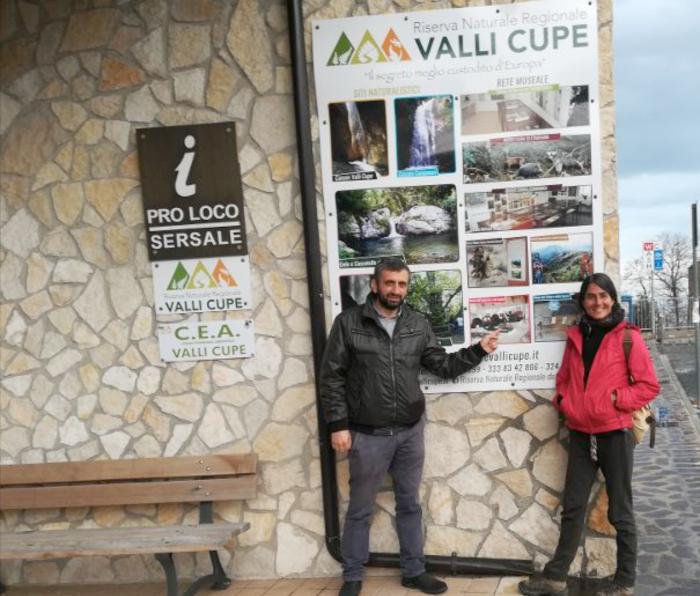 La studiosa Chiara Fadin in visita alla Riserva Vali Cupe